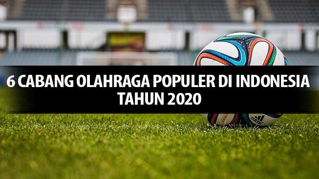 6 Cabang Olahraga Populer di Indonesia Tahun 2020